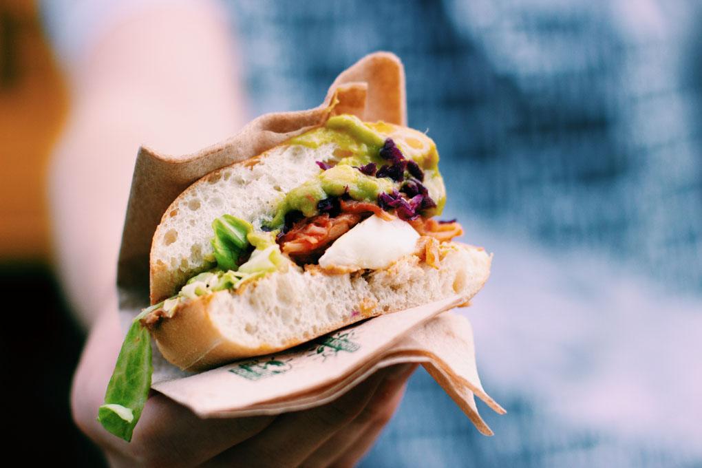 Jackfruit Burger auf der Breminale 2019