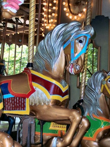 Carousel horses  funky colors  All About Cocoa