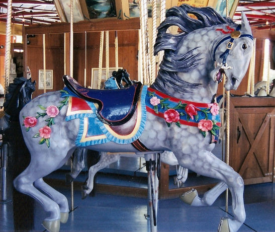 Carousel horses  dapple grey  All About Cocoa