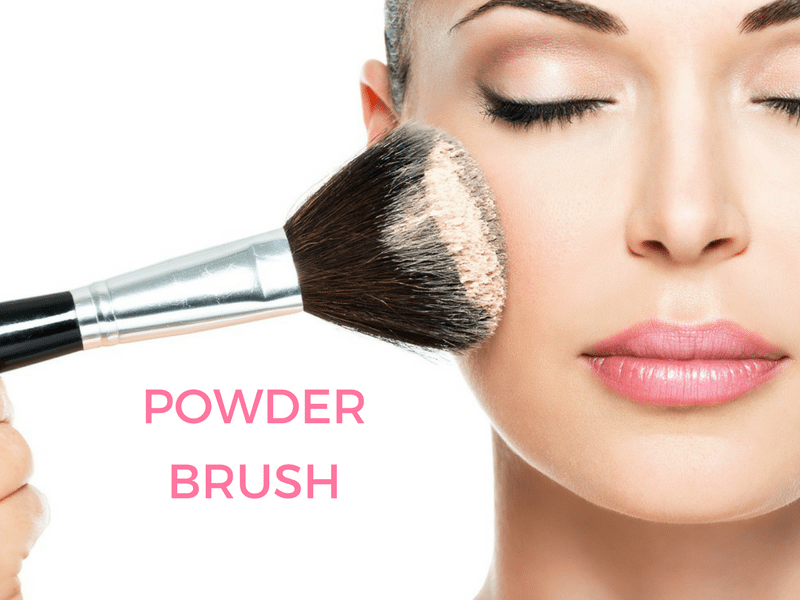 different kinds of makeup brushes