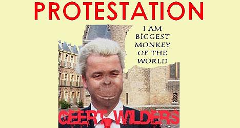 Geert Wilders von Hacker als Affe veralbert