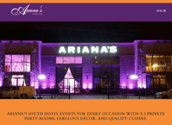 Ariana's South Catering Hall