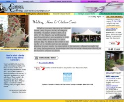 Corinne's Concepts in Catering Wedding Service Website