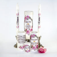 Luxury Wedding Candles Roses & Pearls from Decorative Candle Art Shop