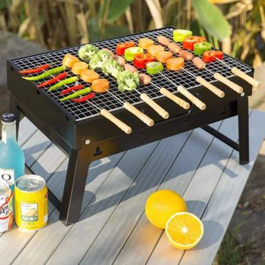 Charcoal Grill Barbecue Tool Sets Portable Premium BBQ Grill for Outdoor Campers Travel Park Beach