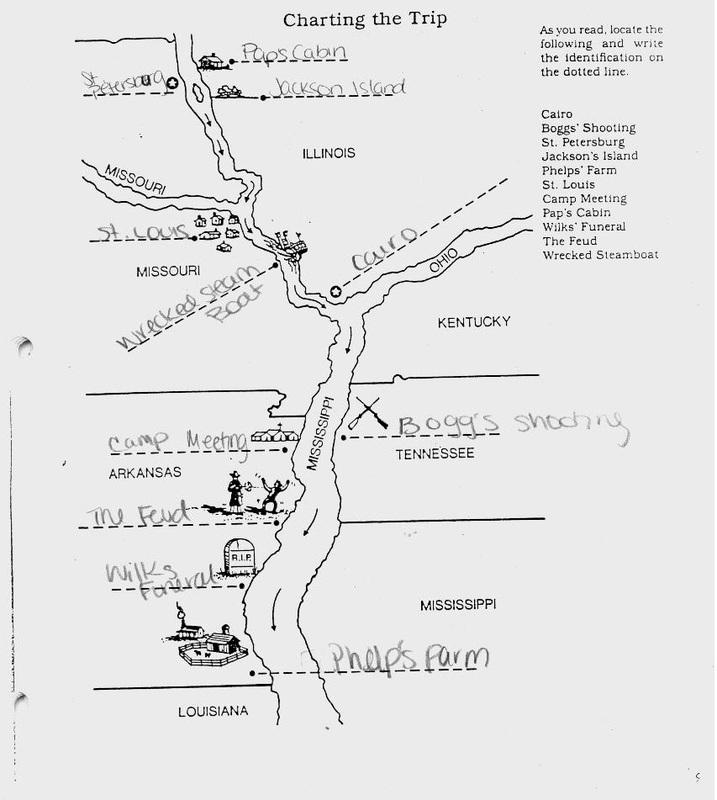 Huckleberry Finn Map Charting