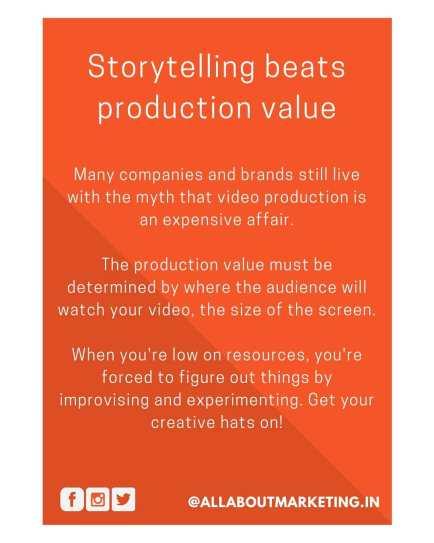 Story telling beats production value