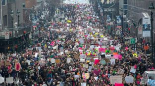 The Women's March on NYC was held on Jan. 21, 2017, the day after President Donald Trump's inauguration. (Credit: AFP / Getty Images / Bryan R. Smith)