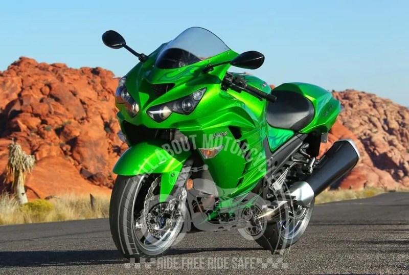 Kawasaki Ninja ZX-14 R top ten fastest motorcycle in the world