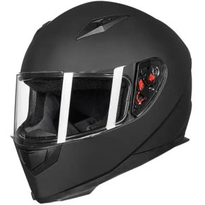 ILM Full Face Motorcycle Street Bike Helmet with Removable Winter Neck