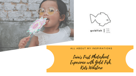 Laia's First Photoshoot  Experience with Gold Fish,  Kids Webstore
