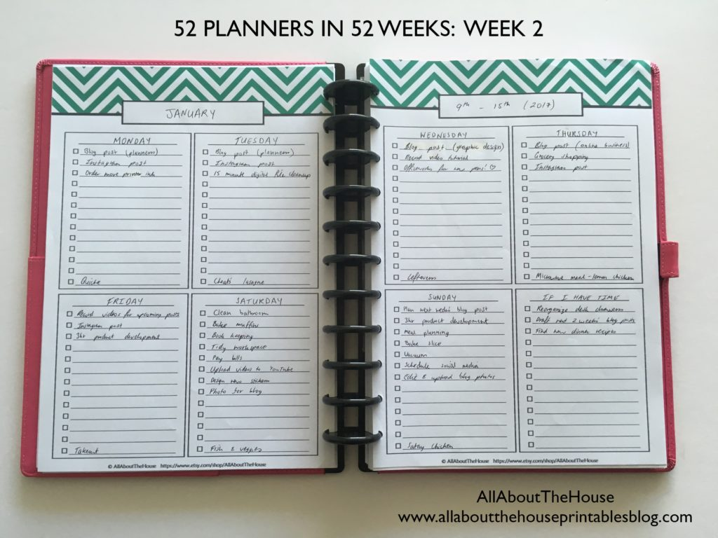Planning With Daily Checklists 52 Planners In 52 Weeks