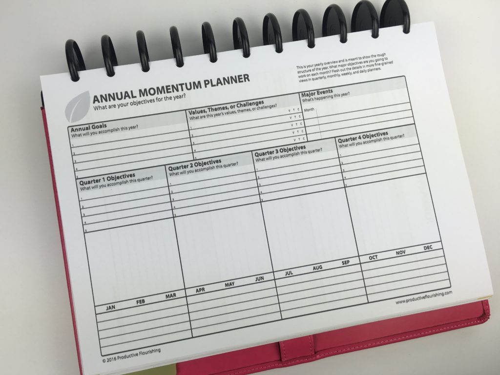 Planning Using The Daily And Weekly Momentum Planner By