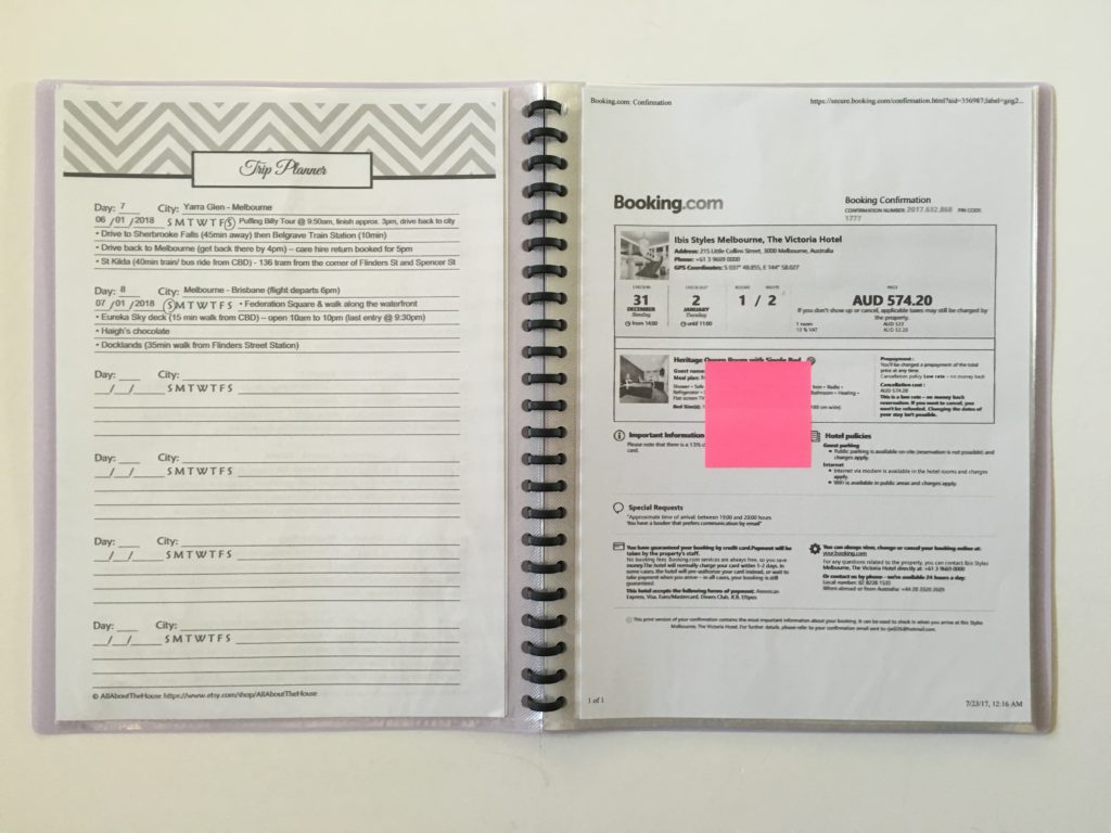 Why I Use A Printable Travel Planner To Plan A Vacation