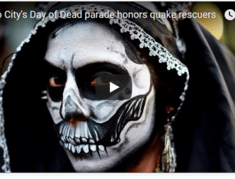 Day of the Dead Parade in Mexico City Honors Quake Victims and Rescuers