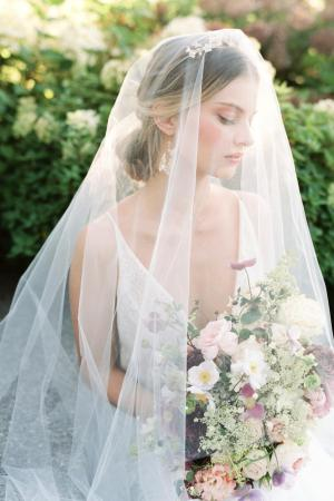 Chapel veil with blusher, wedding veil, bridal veil