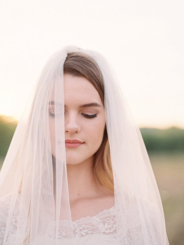 Floor Length Fine Tulle Bridal Veil | ASHLEY