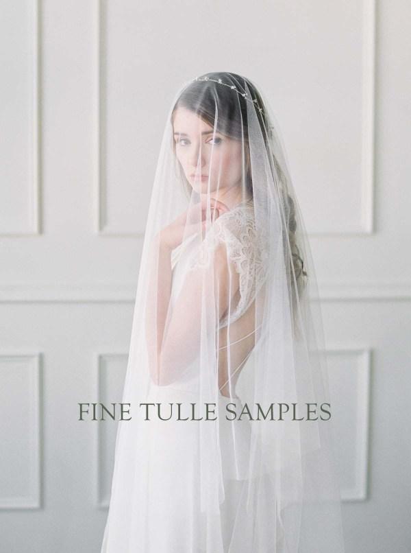 Fabric Sample | Fine Tulle Veiling - wedding veil