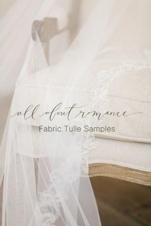 Fabric Sample   Simple Tulle Veiling
