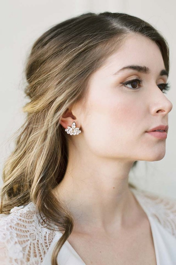 EVA | Crystal SEVA | Crystal Stud Bridal Earrings