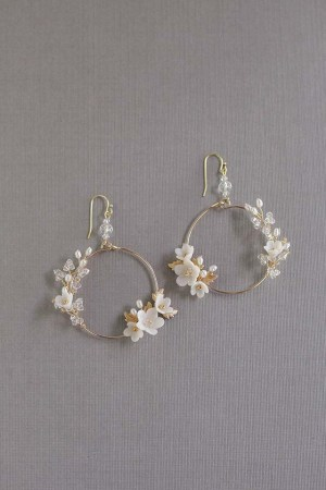 FLEURS PETITES | Bridal Statement Earrings