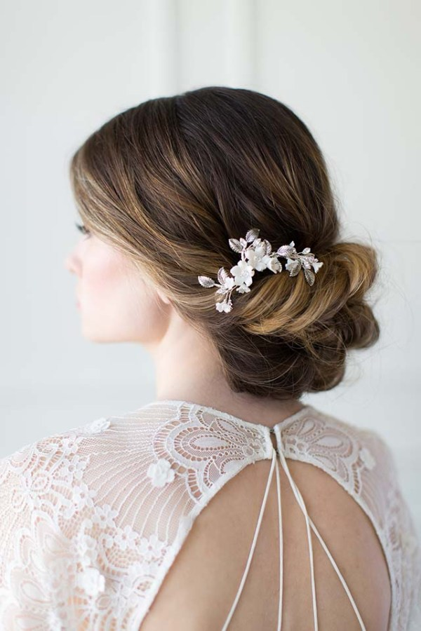 Antique Silver Bridal Comb - FELICIENNE