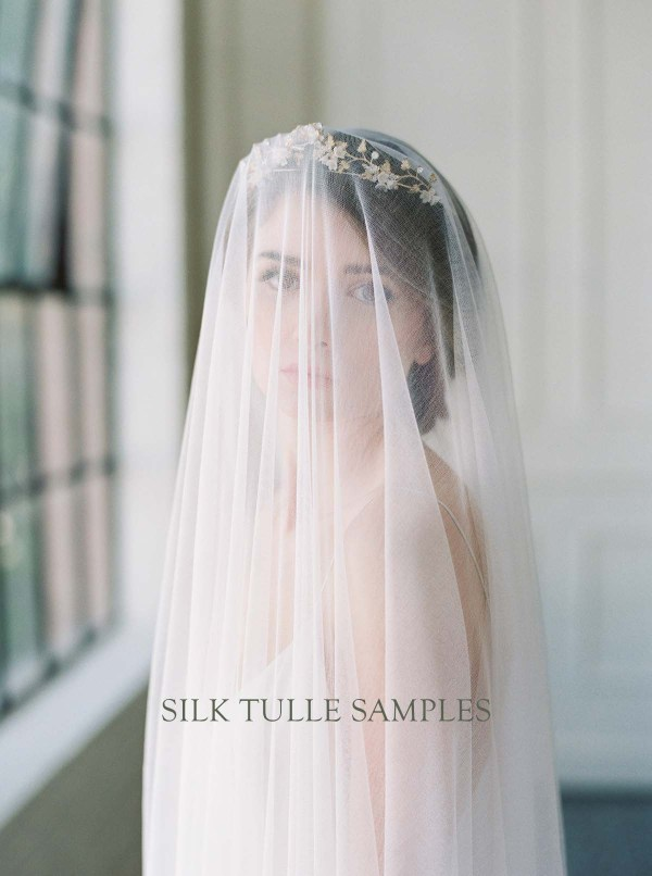 Fabric Sample | Silk Tulle Veiling