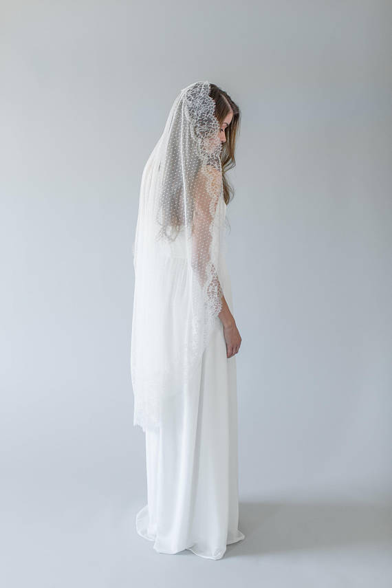 Polka Dot Bridal Veil | ADELISE