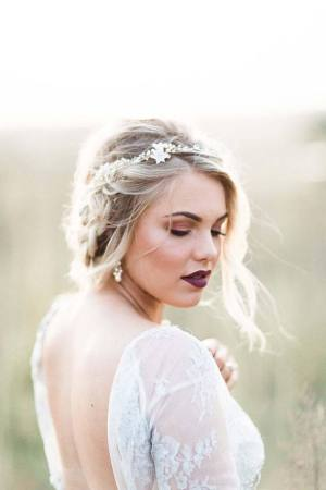Gold Wedding Hair Vine - FLORA