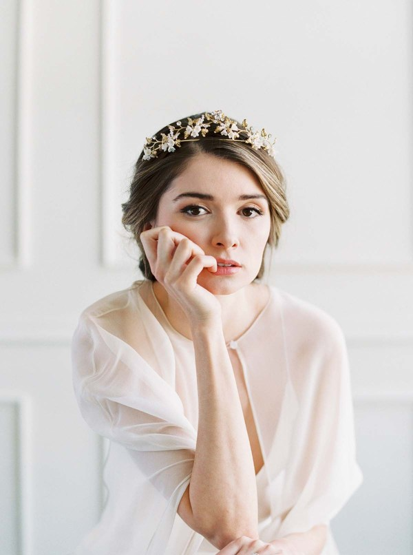 Gold Bridal Crown - COURONNE de FLEUR