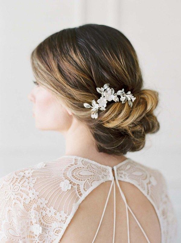 Gold - Antique Silver- Bridal Comb - FELICIENNE