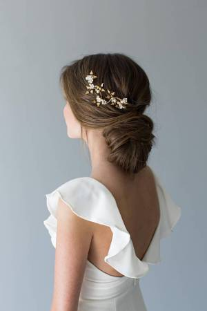 Delicate Gold Wedding Hairvine | FORGET ME NOT