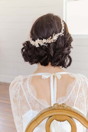 Rose Gold Floral Wedding Crown | GWENONWY