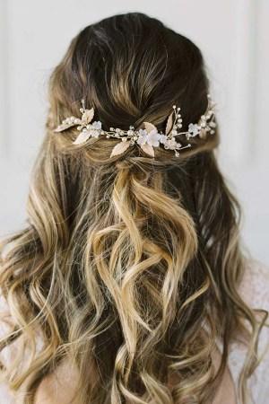 Gold Bridal Hairvine - VIGNE de FLEUR