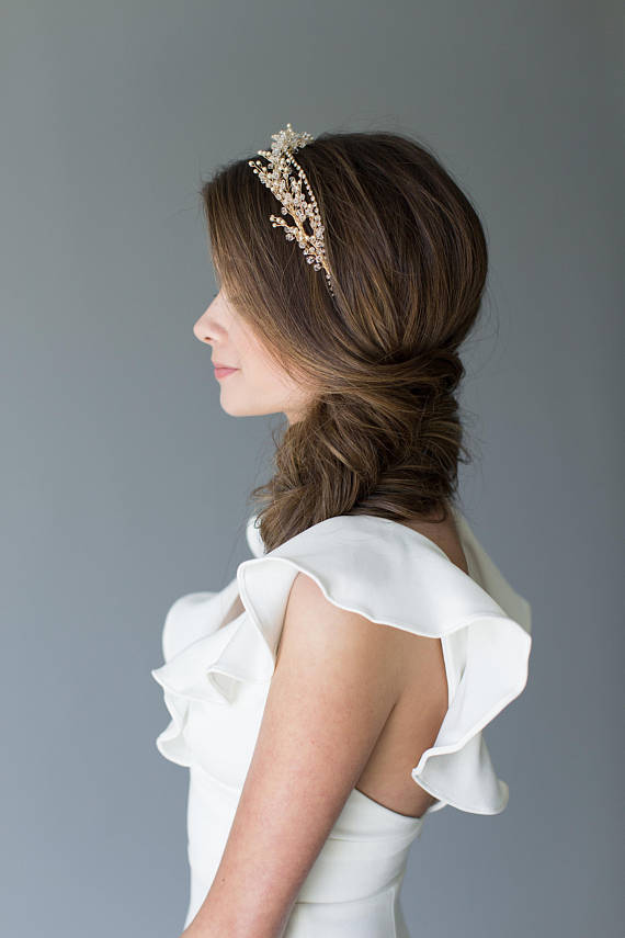 CRYSTAL Wedding HAIR PIECE| VICTORIA