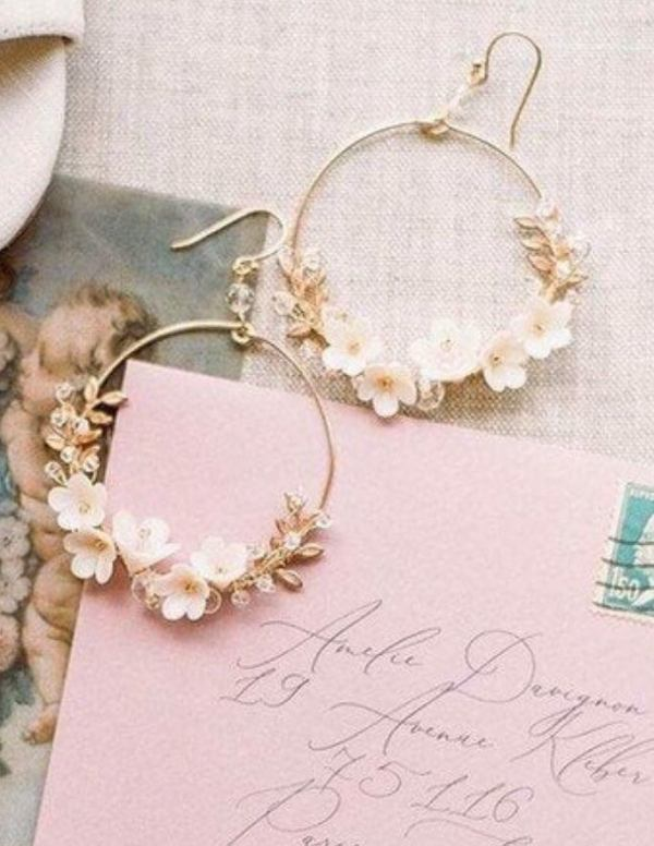 hoop earrings, bridal earrings