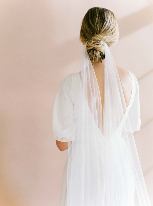 draped veil, draped wedding veil, boho veil