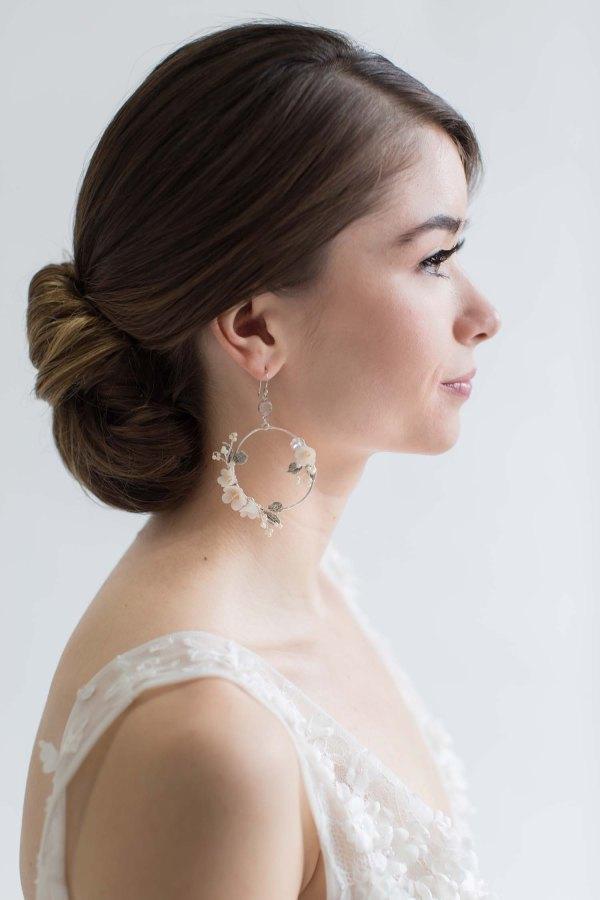 bridal jewellery, wedding jewellery, Hoop earrings