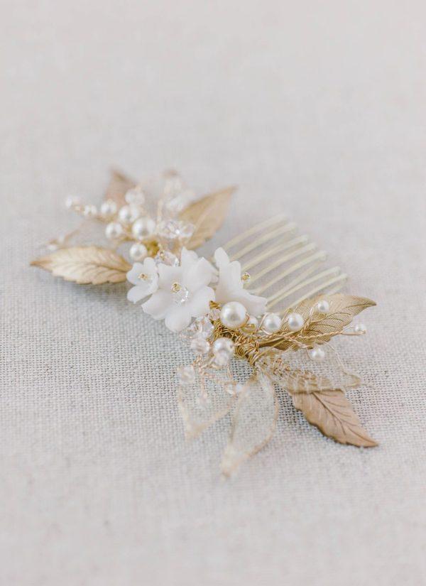 wedding hair comb, bridal hair comb