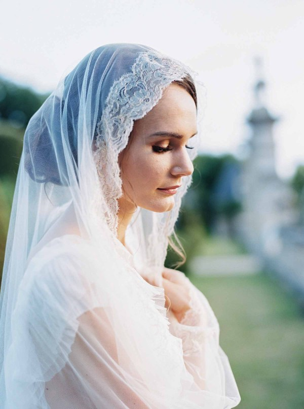 lace wedding veil, lace bridal veil