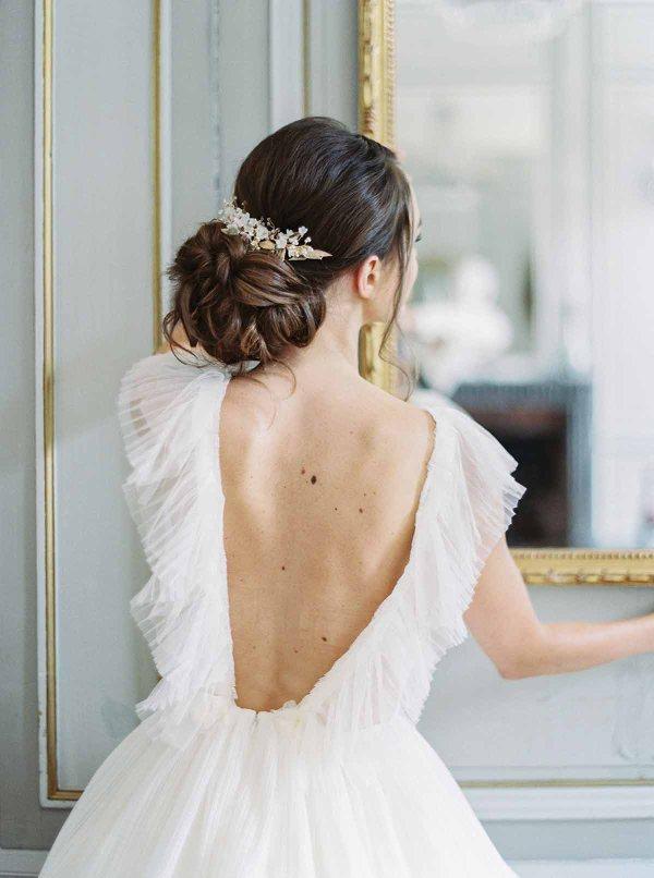 Bridal Hair Piece VIGNE de CLEMATITE