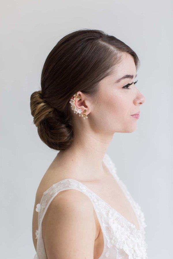 ear cuff, ear wrap, bridal jewellery