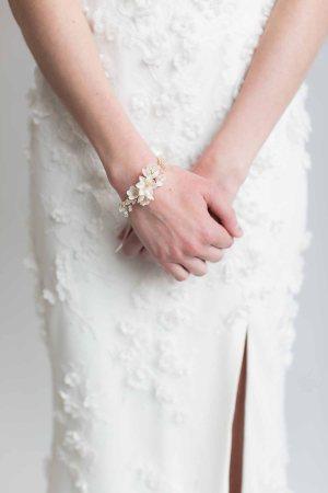 wrist corsage, cuff bracelet