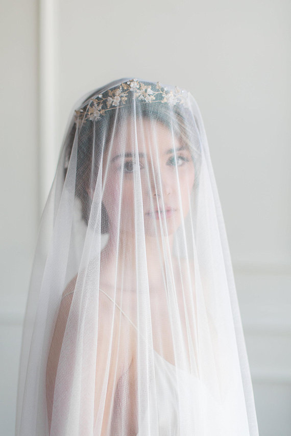 french silk veil, french silk wedding veil