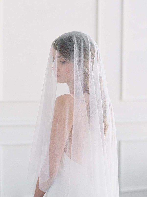 silk veil, bridal veil