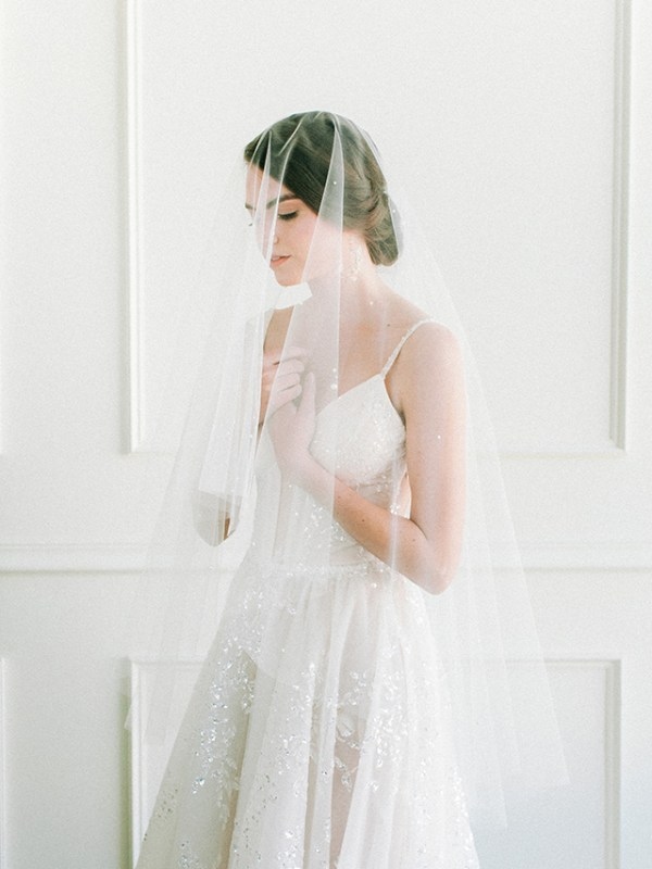 Fingertip Drop Veil with Pearls, veil with pearls