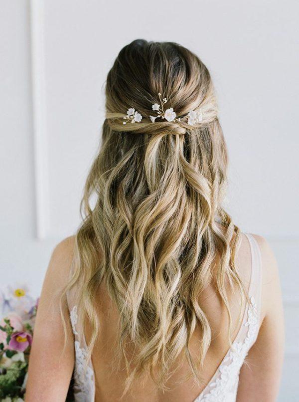 floral bridal hair pins, wedding hair pins, wedding hair piece
