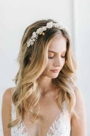 floral bridal headband, wedding headband