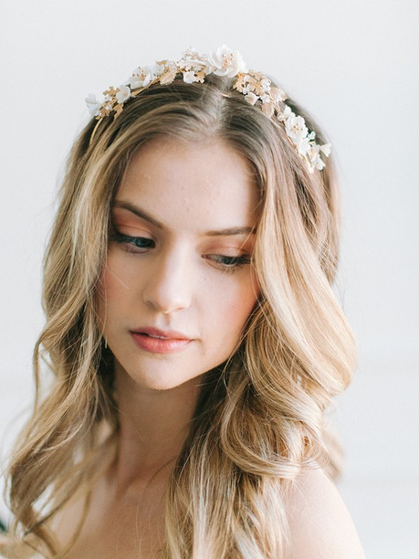floral bridal tiara, wedding tiara, bridal crown