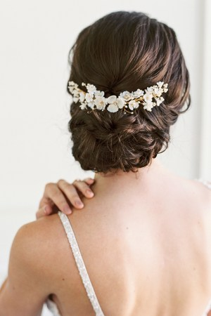 Floral bridal hair piece, wedding hair piece